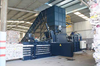 NKW150Q Newspaper Horizontal Baler machine