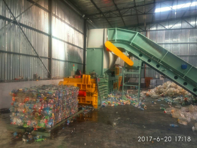 NKW120BD Scrap PET Bottles Horizontal Baler