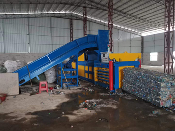 NKW160BD Scrap PET Bottles Horizontal Baler